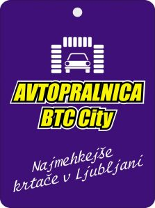 Avtopralnica Btc City reklamni osvežilci